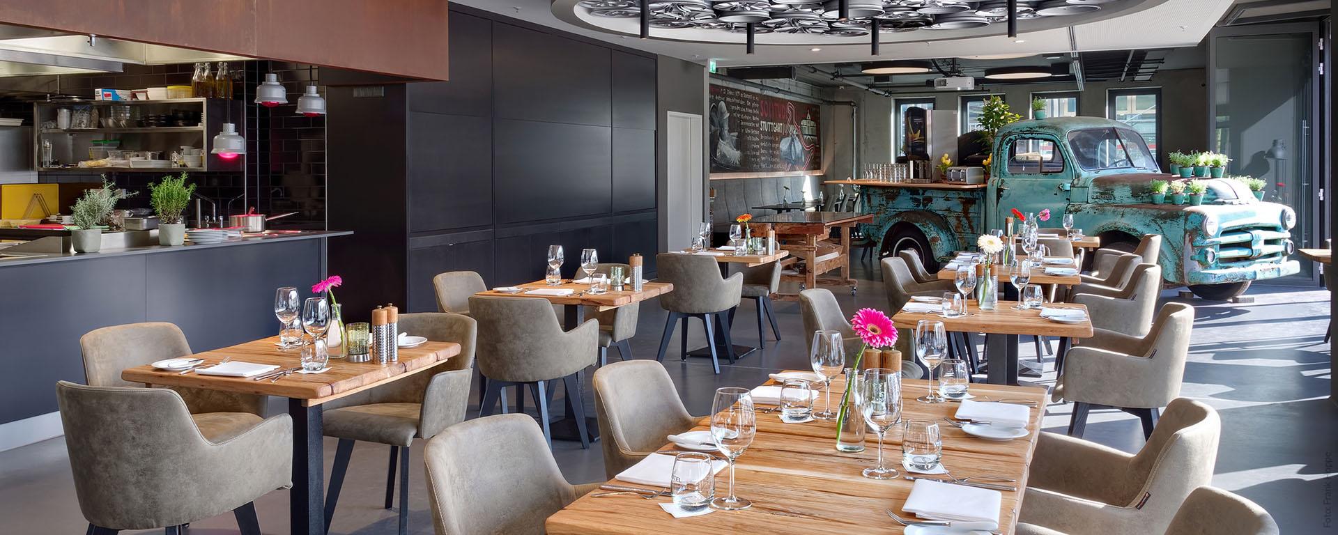 V8 HOTEL PICK-UP Restaurant & Bar: Gut Essen und genießen in vier Sterne-Hotel Superior auf dem Flugfeld in Böblingen, Region Stuttgart
